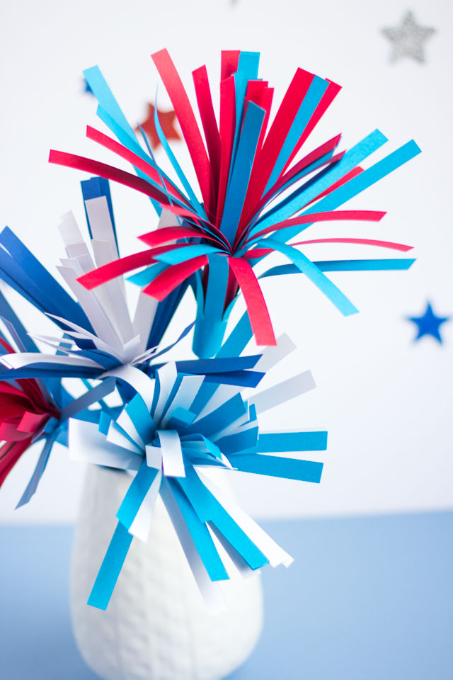 How to make a fireworks centerpiece