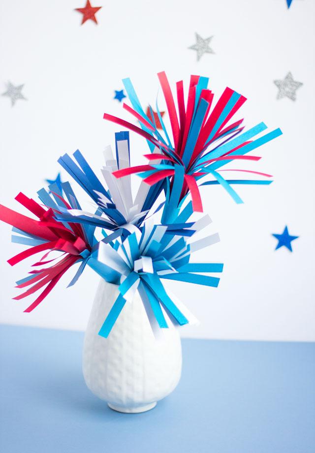 DIY Paper Fireworks Centerpiece