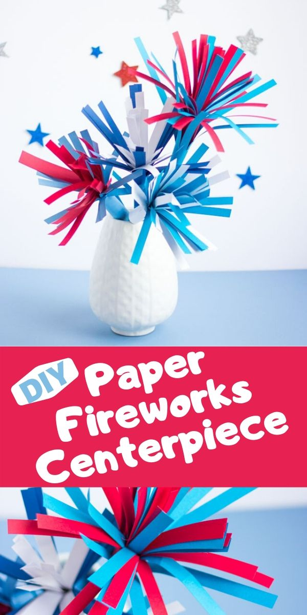 Paper Fireworks 4th of July Decor Craft