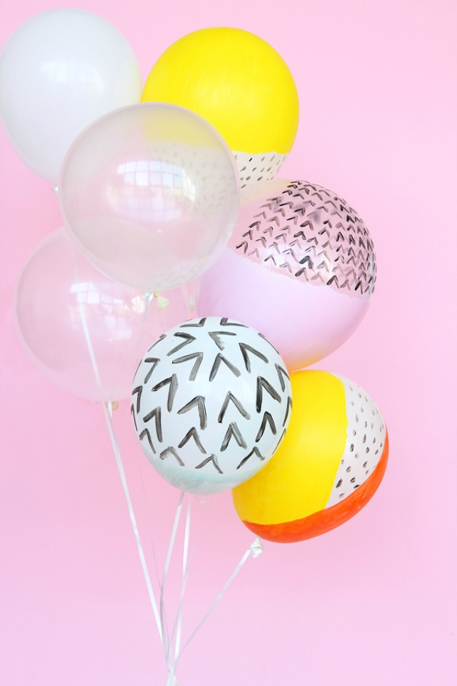 Modern painted balloons