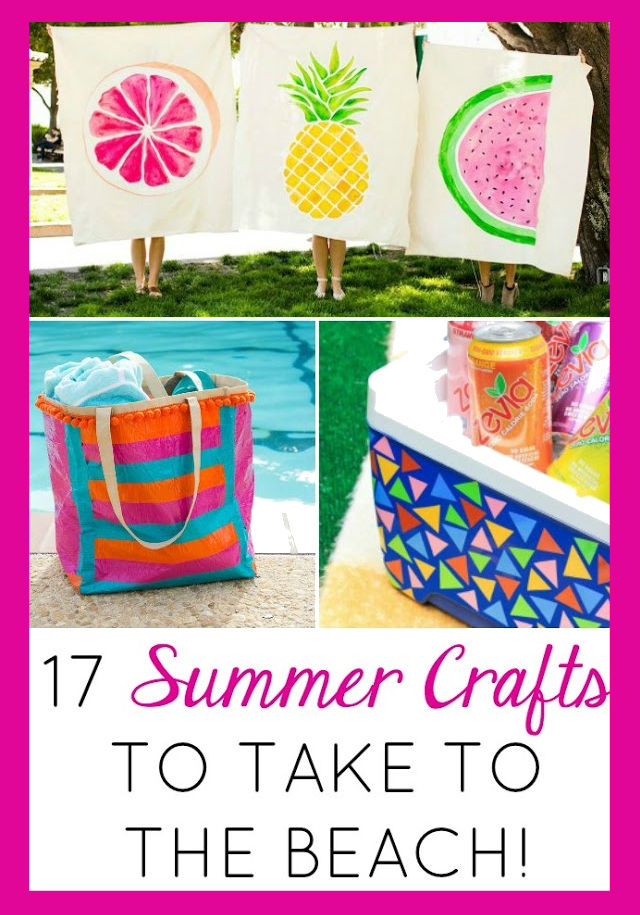 17 Colorful Beach Crafts to Make this Summer!