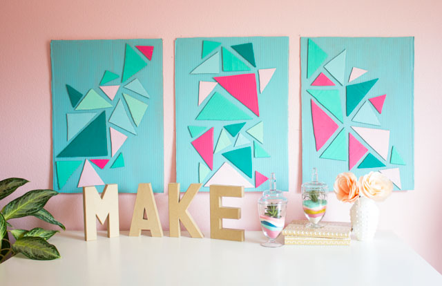 How To Turn A Cardboard Box Into Wall Art Design Improviseddesign