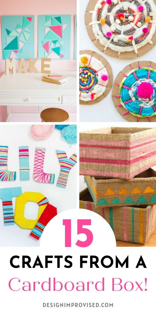 15 crafts you can make from a cardboard box