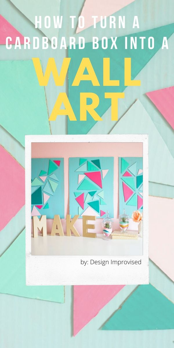 DIY Cardboard Wall Art Craft Idea