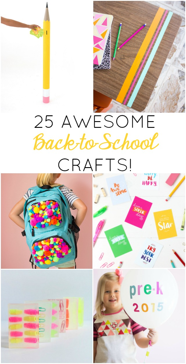 25 Awesome Back-to-School Craft Ideas! - Design Improvised
