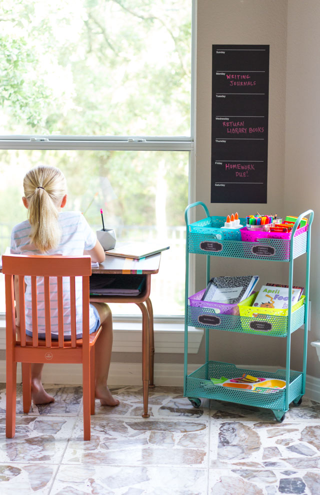 How to create a homework station #homeworkstation #homeworktips