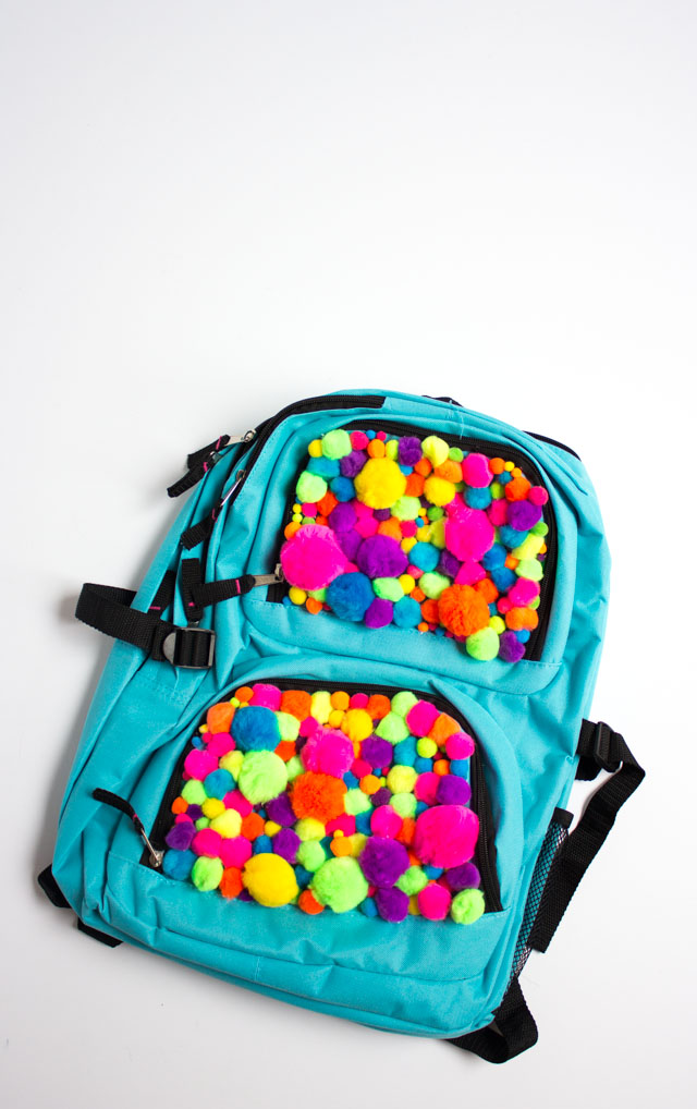 Make your own pom-pom backpack!