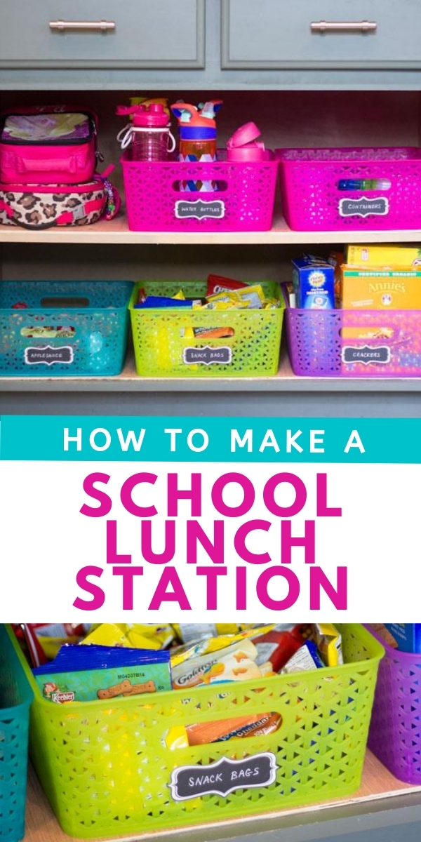 How to Make a School Lunch Station at Home