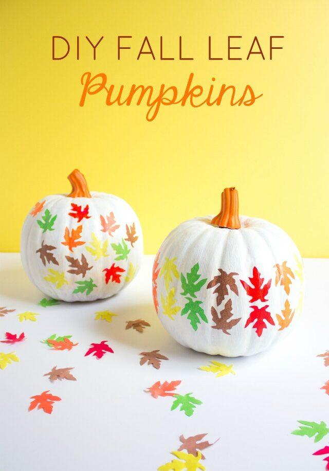 DIY Fall Leaf Pumpkins