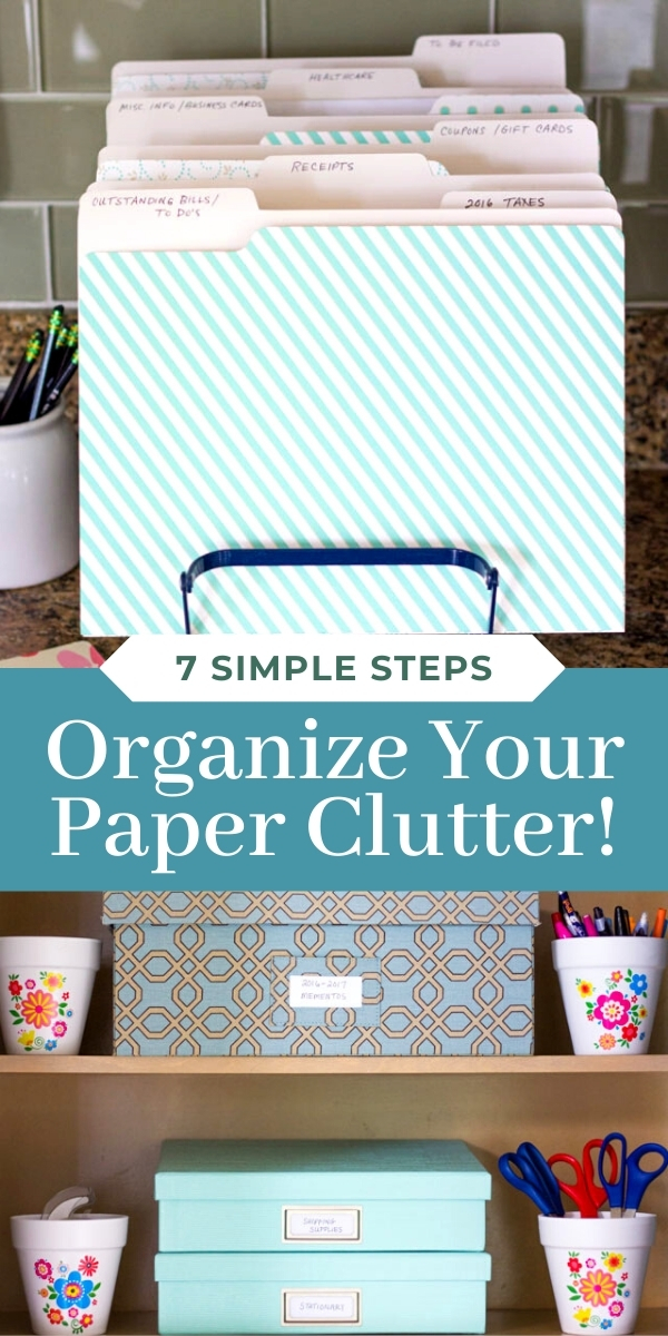 Simple tips for organizing paper clutter