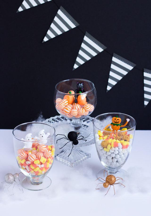 DIY Halloween Candy Terrariums