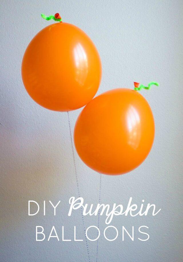 Simple DIY Pumpkin Balloons!