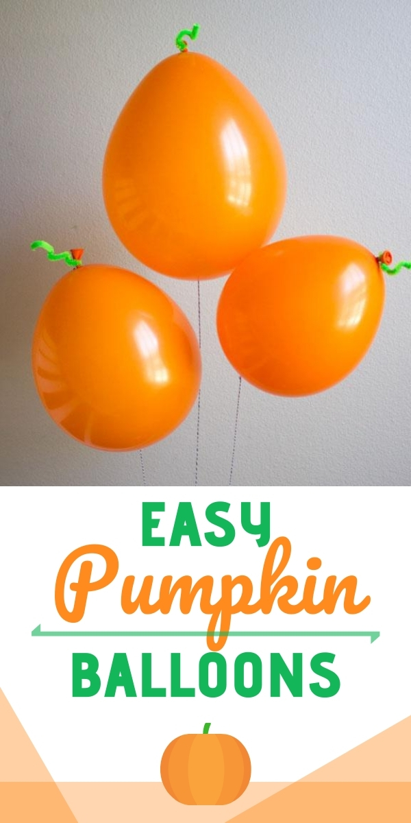 Easy Pumpkin Balloons