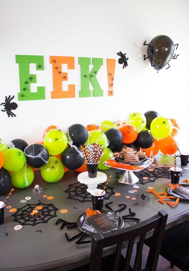 EEK! Spider Themed Halloween Party Ideas