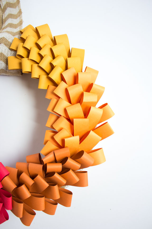 Make this beautiful ombre wreath out of paper strips - so easy!