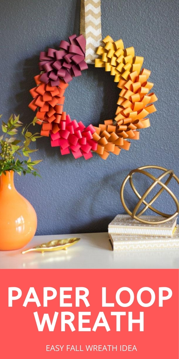 DIY Paper Loop Wreath for Fall