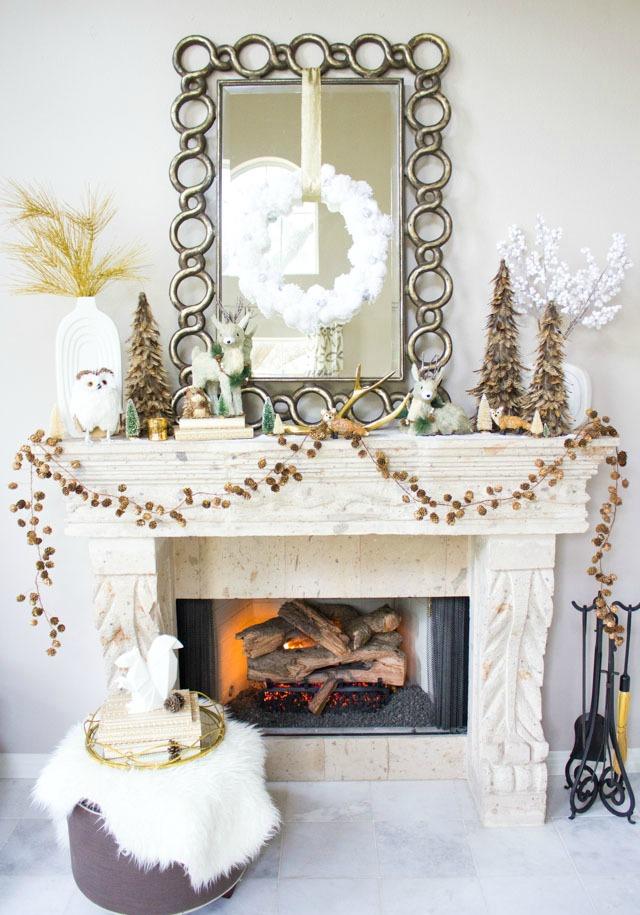 Winter Wonderland Christmas mantel ideas