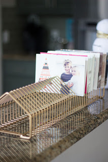 Christmas card holder idea using an old CD rack!