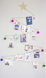 Christmas tree card display idea