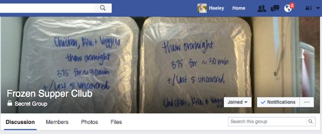 freezer meal exchange facebook group