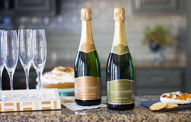 How to host a freezer meal exchange party with Gloria Ferrer sparkling wines!