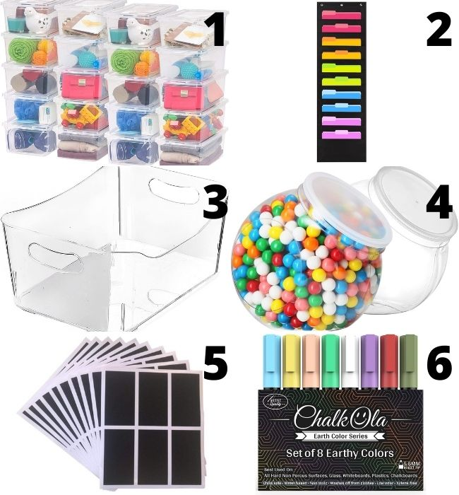 Craft supply storage containers