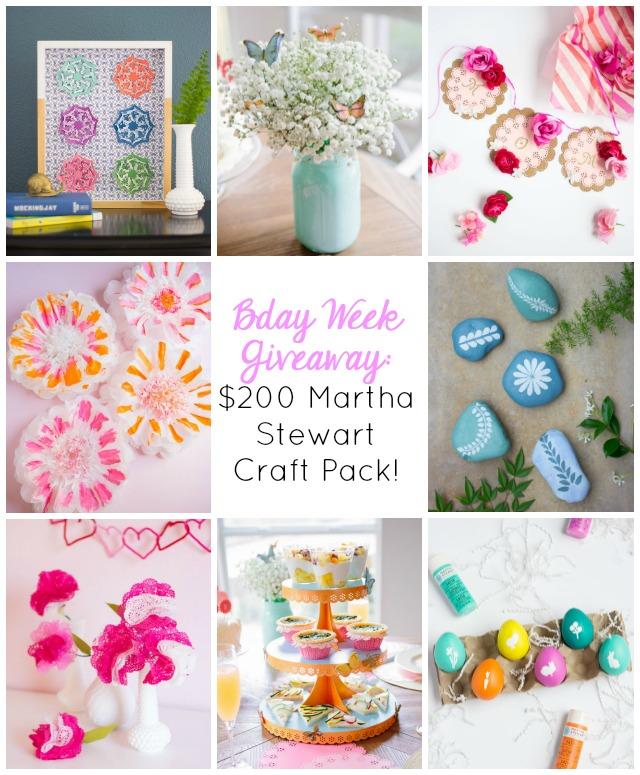 Birthday Week Giveaway 200 Martha Stewart Craft Supplies Package