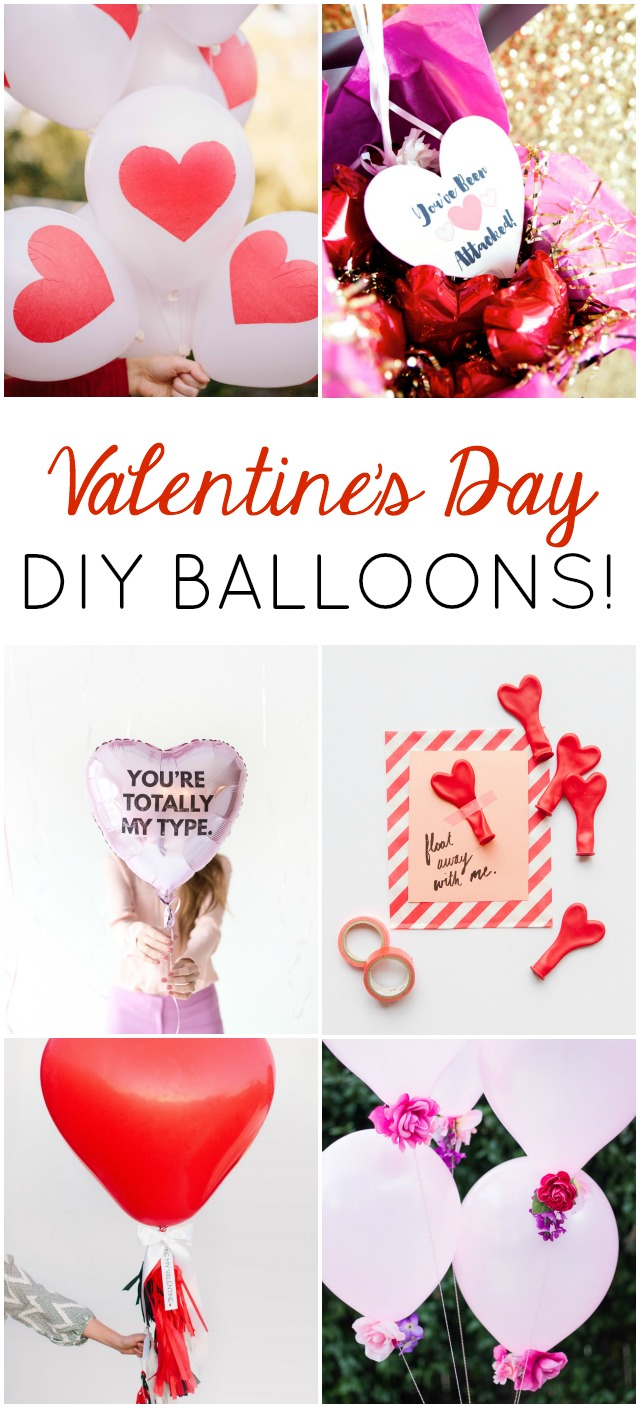 Love all these Valentine's Day balloon ideas!