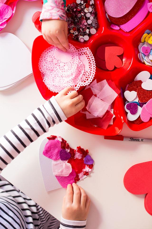 Kids handmade Valentine Cards Ideas