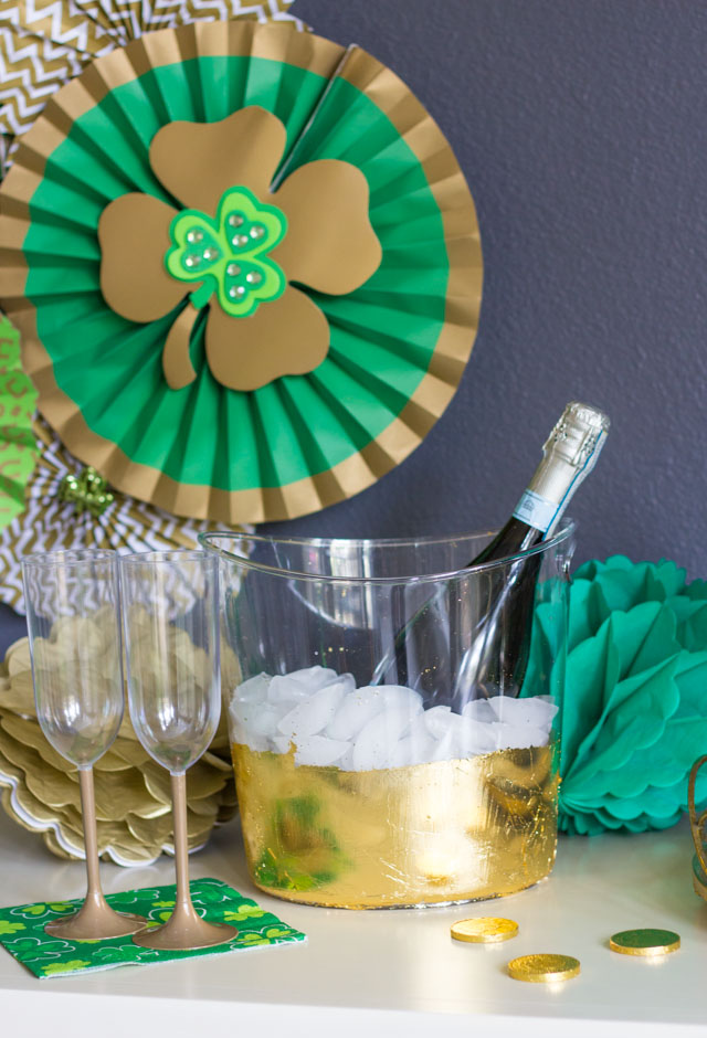 Make your own gold foiled champagne bucket!