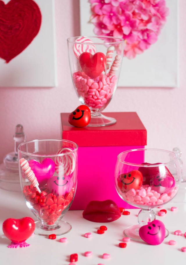 Candy terrariums for Valentine's Day