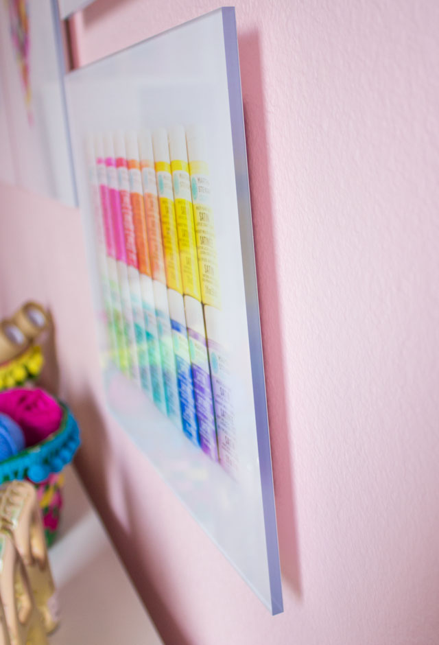 Mixbook acrylic prints are simple to hang with their built in hardware