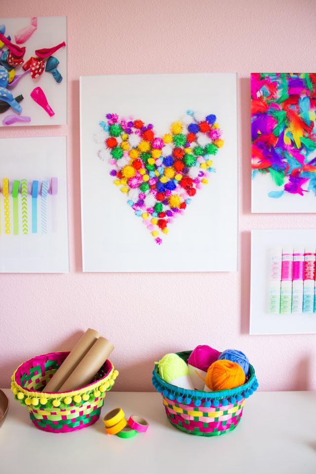 Diy Craft Room Wall Art Idea Design Improviseddesign Improvised