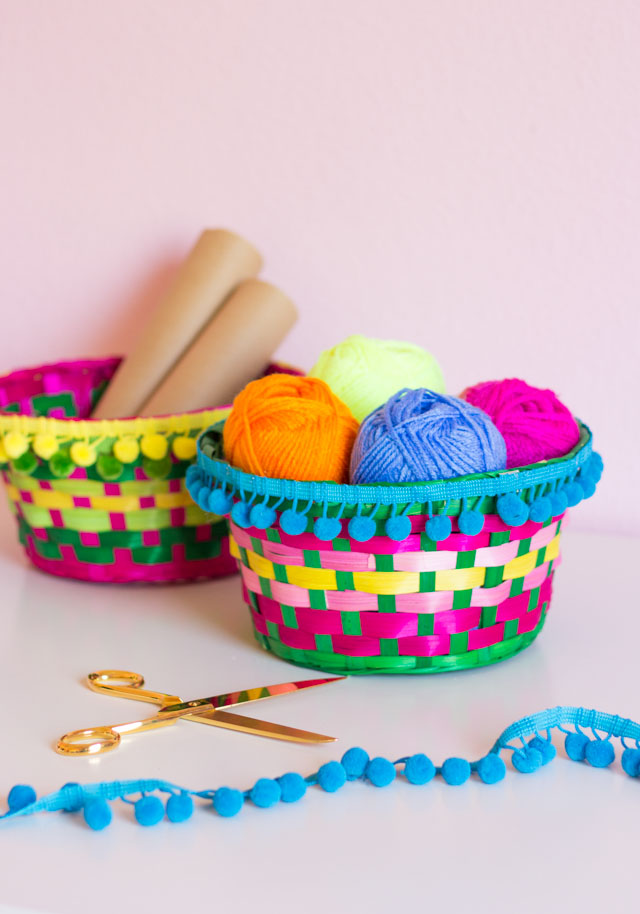 DIY Easter Basket Storage Bins