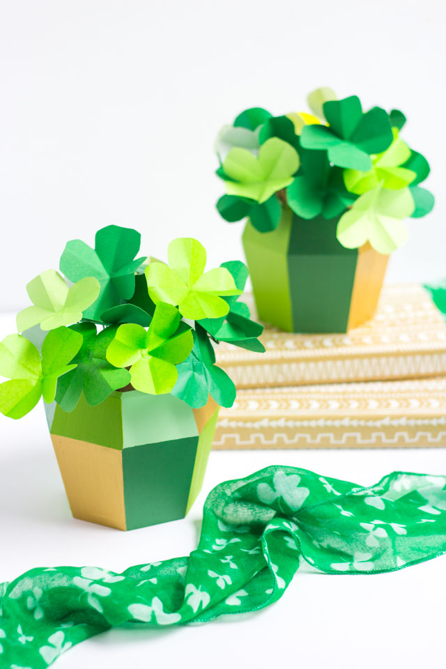 DIY Paper Origami Shamrock Craft