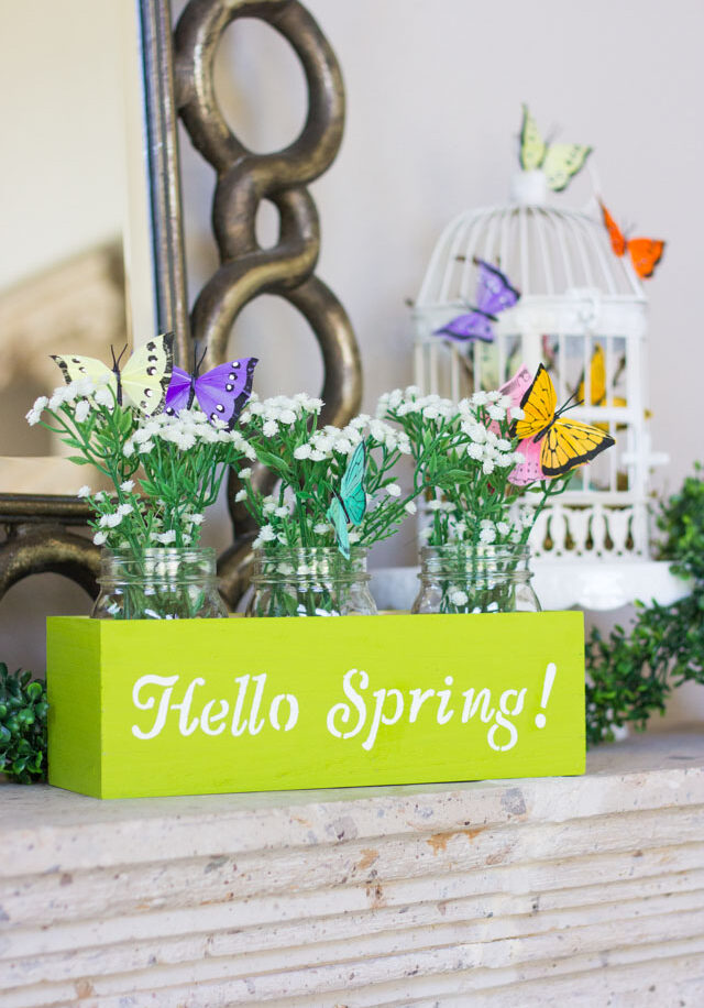 Hello Spring! Mantel Decorating Ideas