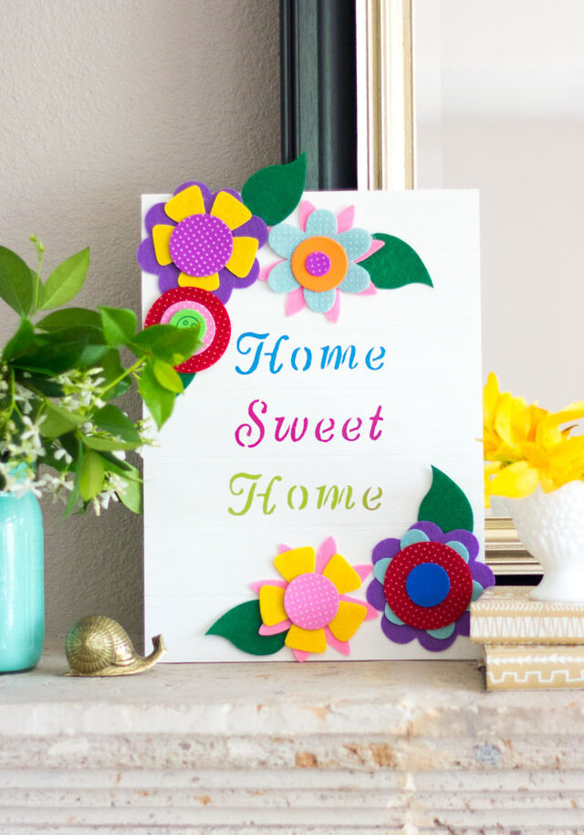 DIY home sweet home wood sign