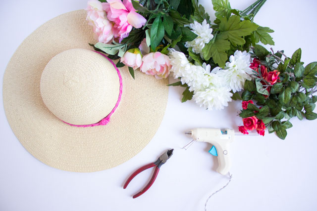 Supplies for DIY Kentucky Derby Hat