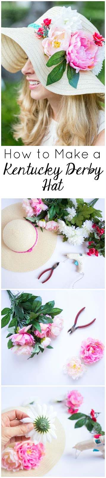 Make a gorgeous floral Kentucky Derby hat for under $10!