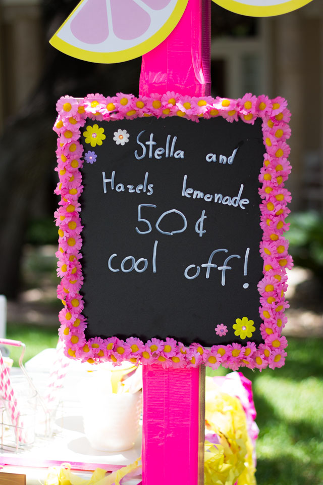Make your own lemonade stand chalkboard menu!