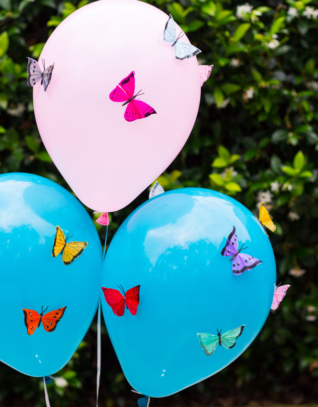 Make these gorgeous butterfly balloons for a spring wedding, party, or shower!