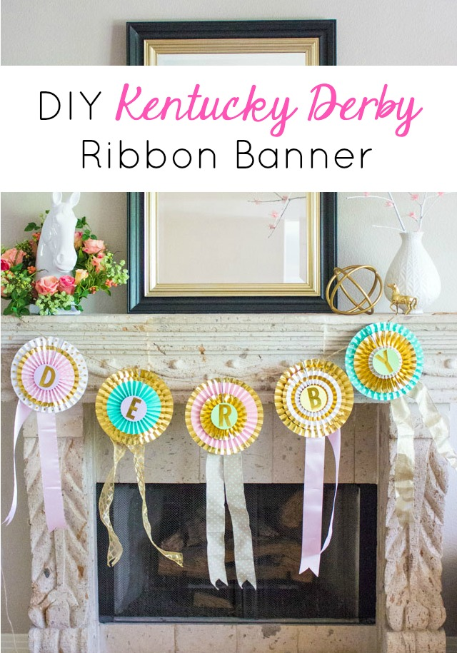 DIY Kentucky Derby Ribbon Banner Decorations