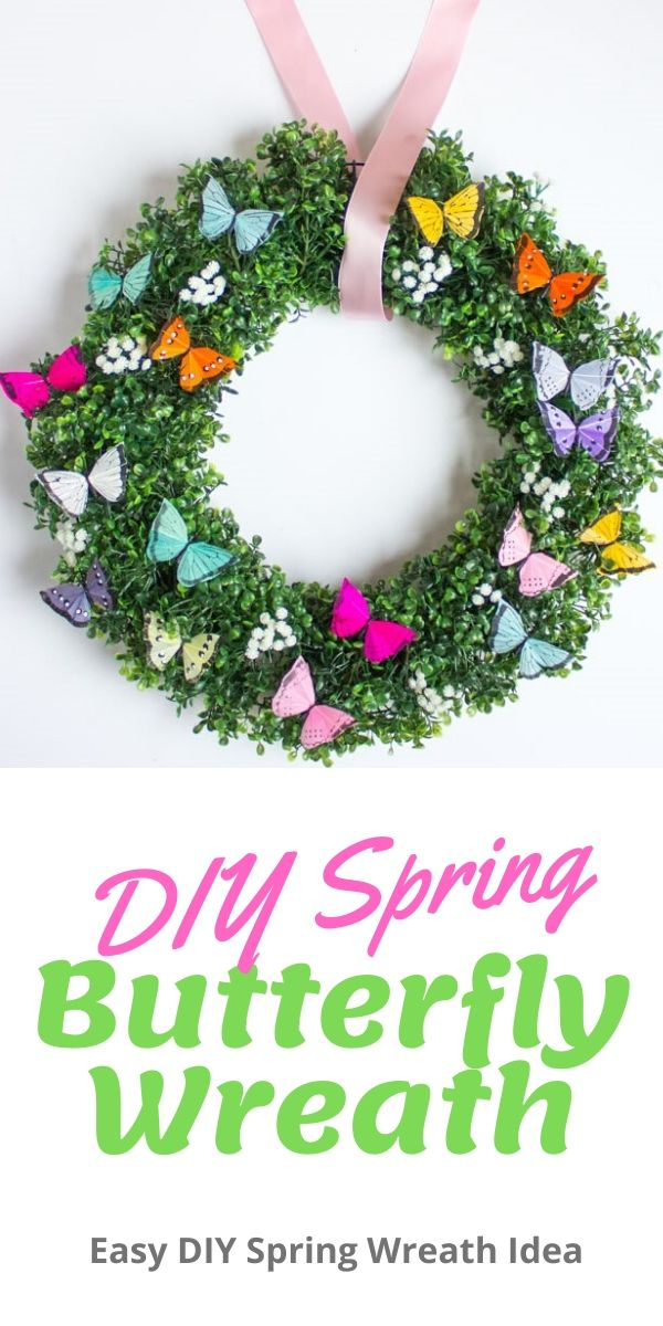 The prettiest butterfly wreath you can make in minutes!