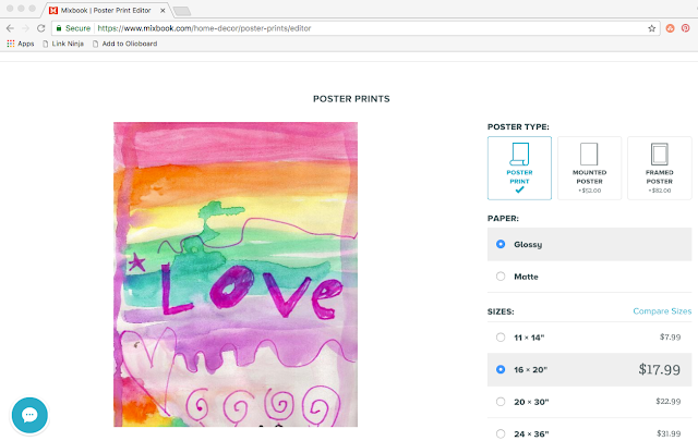 Turn kids art into posters with Mixbook