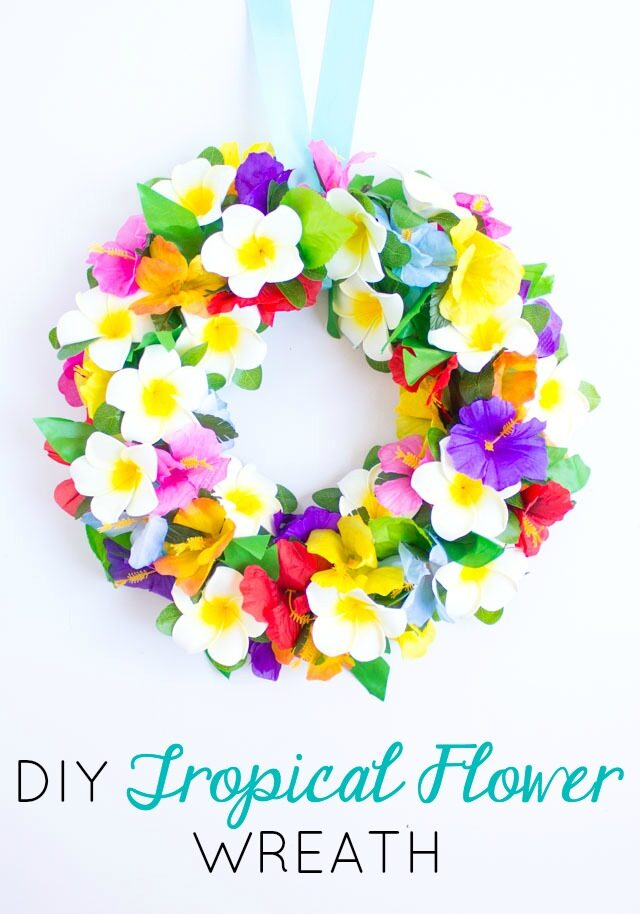 Make a Floral Tropical Wreath
