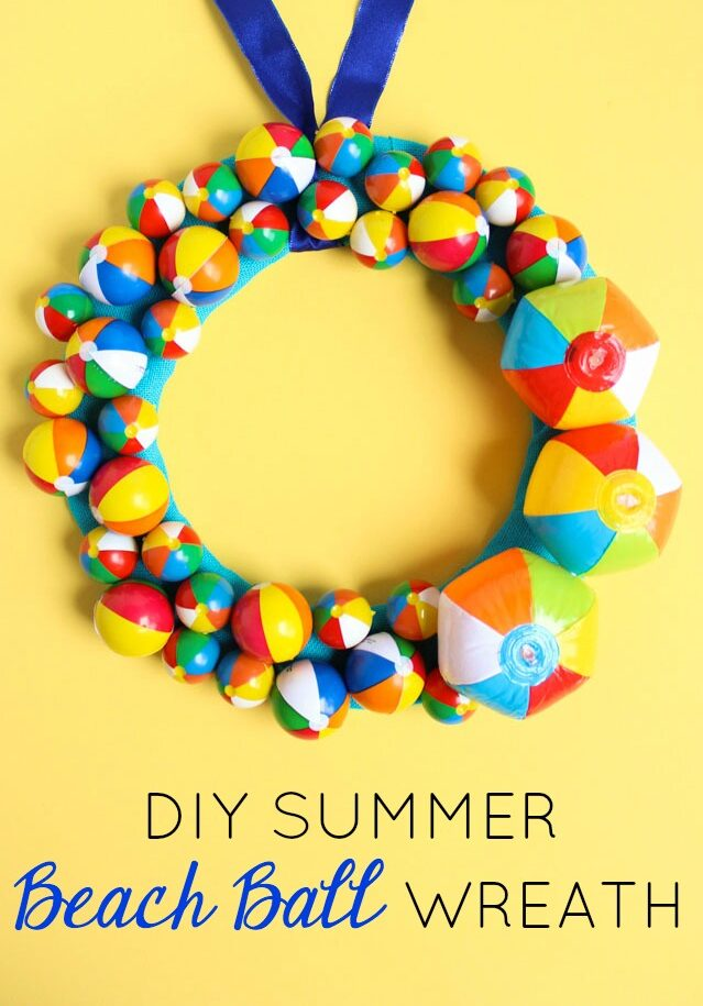 Summer Beach Ball Wreath