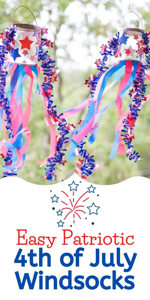 DIY Windsocks for the 4th of July