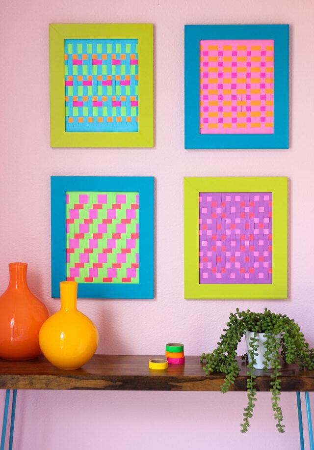 DIY Modern Woven Paper Art