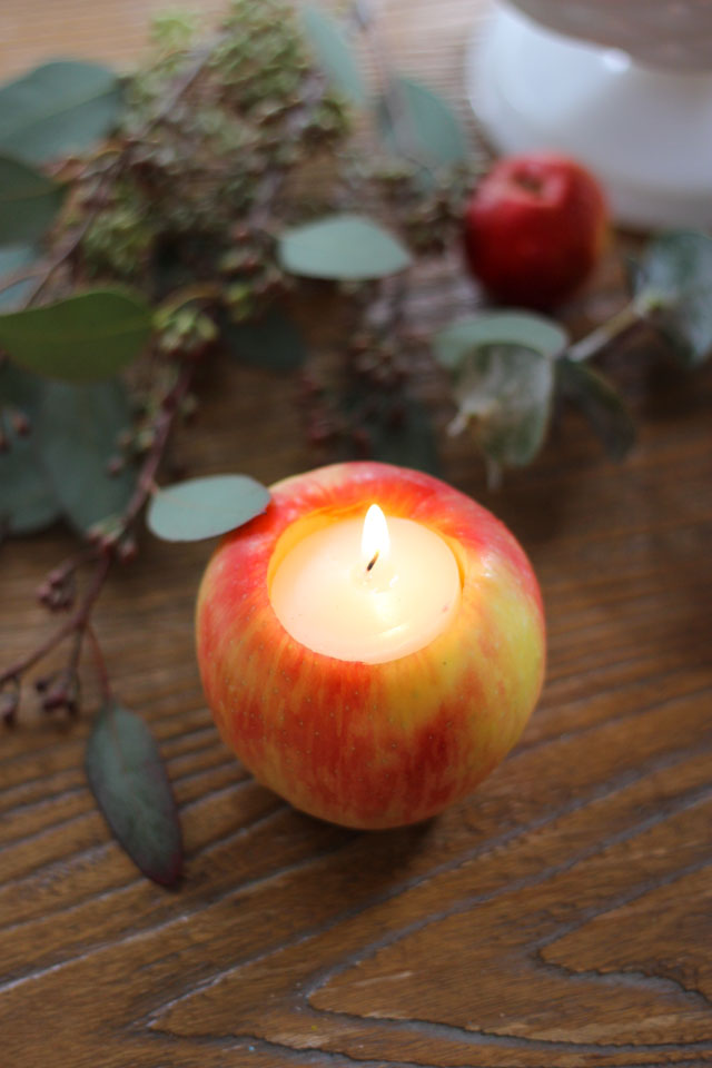 I love making apple votives for fall - so easy!