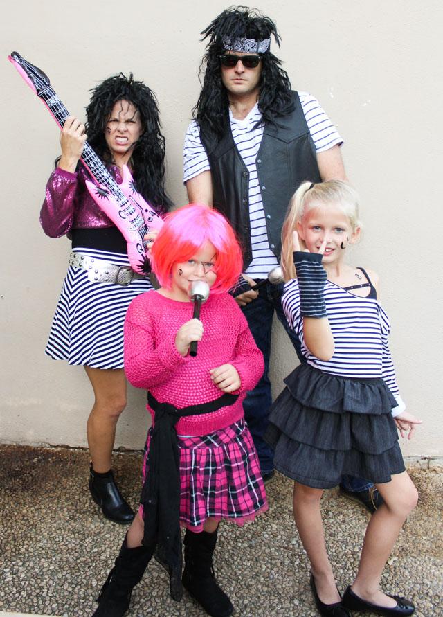 80s Rock Band Halloween Costume Idea